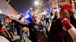 反トランプデモ、一部が暴徒化し銃撃事件も トランプ氏の反応は...