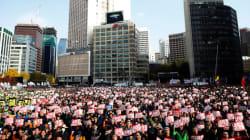 Une manifestation avec un million de personnes à