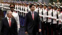 Raul Castro discute des États-Unis avec Justin