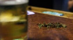 Une bière et un joint à