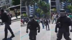 PMs do Choque mudam de lado e se juntam aos manifestantes no