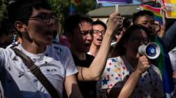 Manifestation à Taïwan contre le mariage gai
