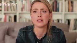Émue, Amber Heard prend la parole contre les violences faites aux