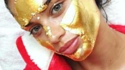 Les Anges de Victoria's Secret se font des masques... de feuilles d'or 24