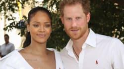 Encuentro real: el príncipe Harry con Rihanna en