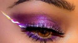 La dernière tendance maquillage? Le eyeliner « licorne