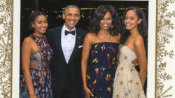 La dernière carte de voeux des Obama tout en styles est