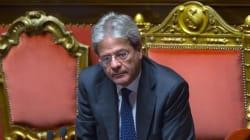 Governo Gentiloni, il giorno della fiducia al Senato. Banchi dell'opposizione