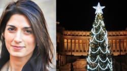 Virginia Raggi spiega ai romani perché l'albero di Natale della Capitale è così
