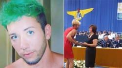 Contra homofobia, estudante gay do ITA se forma de vestido, salto e