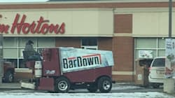 Albertan Takes Zamboni To Tim Hortons Drive-Thru BECAUSE