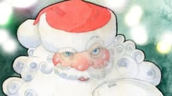 Papá Noel y los niños de las regiones productoras de café, té y