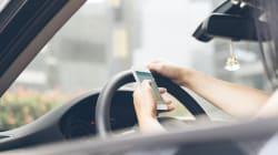 Un tiers des automobilistes canadiens textent au feu