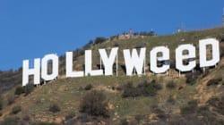 ハリウッドサインが一夜にして「ハリウィード」に 大麻支持者の仕業?(画像)
