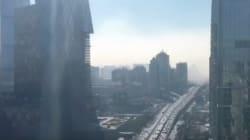 Así se traga la contaminación a Pekín en 12 segundos