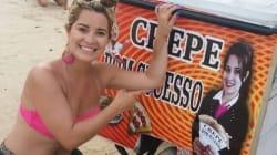 De férias em Natal, curitibana descobre que sua foto ilustra carrinho de
