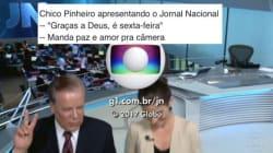 Chico Pinheiro encerra JN com 'graças a Deus, hoje é sexta-feira' e faz a alegria da