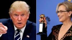 'Meryl Streep é uma atriz super-estimada', reage Trump às críticas da atriz no Globo de
