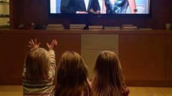 Chris Hemsworth's Kids Adorably Cheer On Dad At Golden