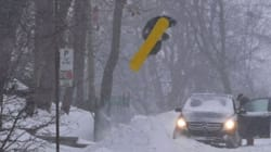 Pro Snowboarder Shreds The Streets Of Downtown