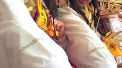 巫女の衣装はモンベル製? 「ゑびす娘」の袖にロゴマーク、理由は... 今宮戎神社とモンベルに聞きました