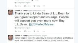 Trump fait de la pub pour une marque de linge et ça ne se passe