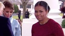 On sait enfin pourquoi Michelle Obama a fait une drôle de tête en recevant le cadeau de Melania