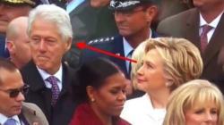 Lo sguardo di Hillary verso Bill rapito da Melania dice più di mille