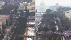La diferencia entre la toma de posesión de Trump y la Marcha de las