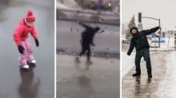 La météo extrême a donné droit à des moments
