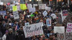 トランプ大統領の難民入国禁止令、全米で抗議デモ広がる