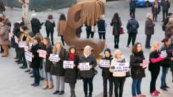 La razón por la que piden la retirada de esta escultura contra la violencia