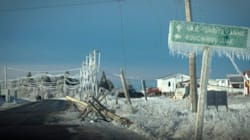 Violent N.B. Ice Storm Toppled Power Poles Like