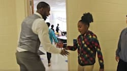 Coolest Teacher Ever Creates Unique Handshake With Every