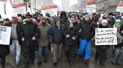 Hundreds March In Quebec City Cold To Call For 'Peace And