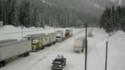 B.C. Highways Paralyzed By Freezing Rain,