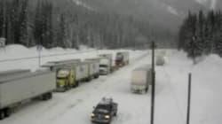 B.C. Highways Paralyzed By Freezing Rain,