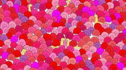 Riuscite ad individuare il cuoricino tra le lumache? Il rompicapo di San