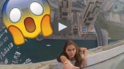 Pour une photo Instagram, le mannequin russe Viki Odintcova a pris des risques fous à