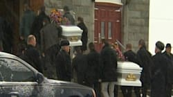 Drame à Saint-Romain: funérailles des deux soeurs Fillion et de leur