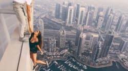 Pour une photo, elle s'est envoyée en l'air (à 300 mètres du