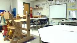 Une classe sans fenêtre pour de jeunes