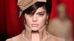 Kendall Jenner défile pour Moschino habillée en carton lors de la Semaine de mode de