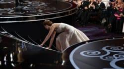 Dalla caduta di Jennifer Lawrence al ladro di statuette, tutti i contrattempi e le gaffe agli