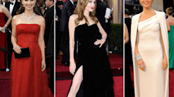 Red, White And Shiny: Oscar Dresses Keep It Simple And