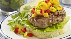 Pork Burgers With Mango Salsa