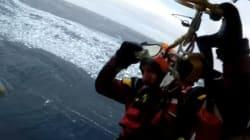 Voyez le sauvetage dramatique d'un équipage de chasseurs de