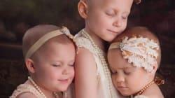 Ces enfants survivants du cancer reproduisent une photo à trois ans