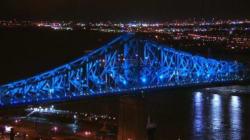 Un avant-goût de l'illumination du pont