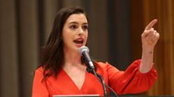 Anne Hathaway partage la première photo de son